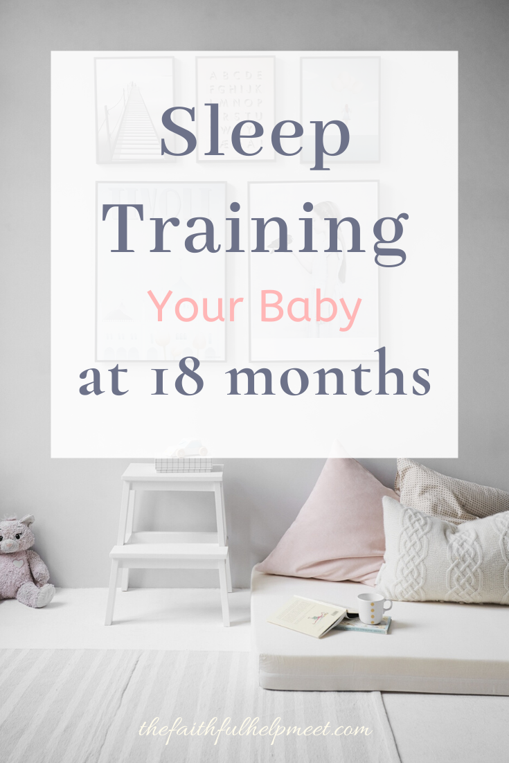 sleep training your baby at 18 months