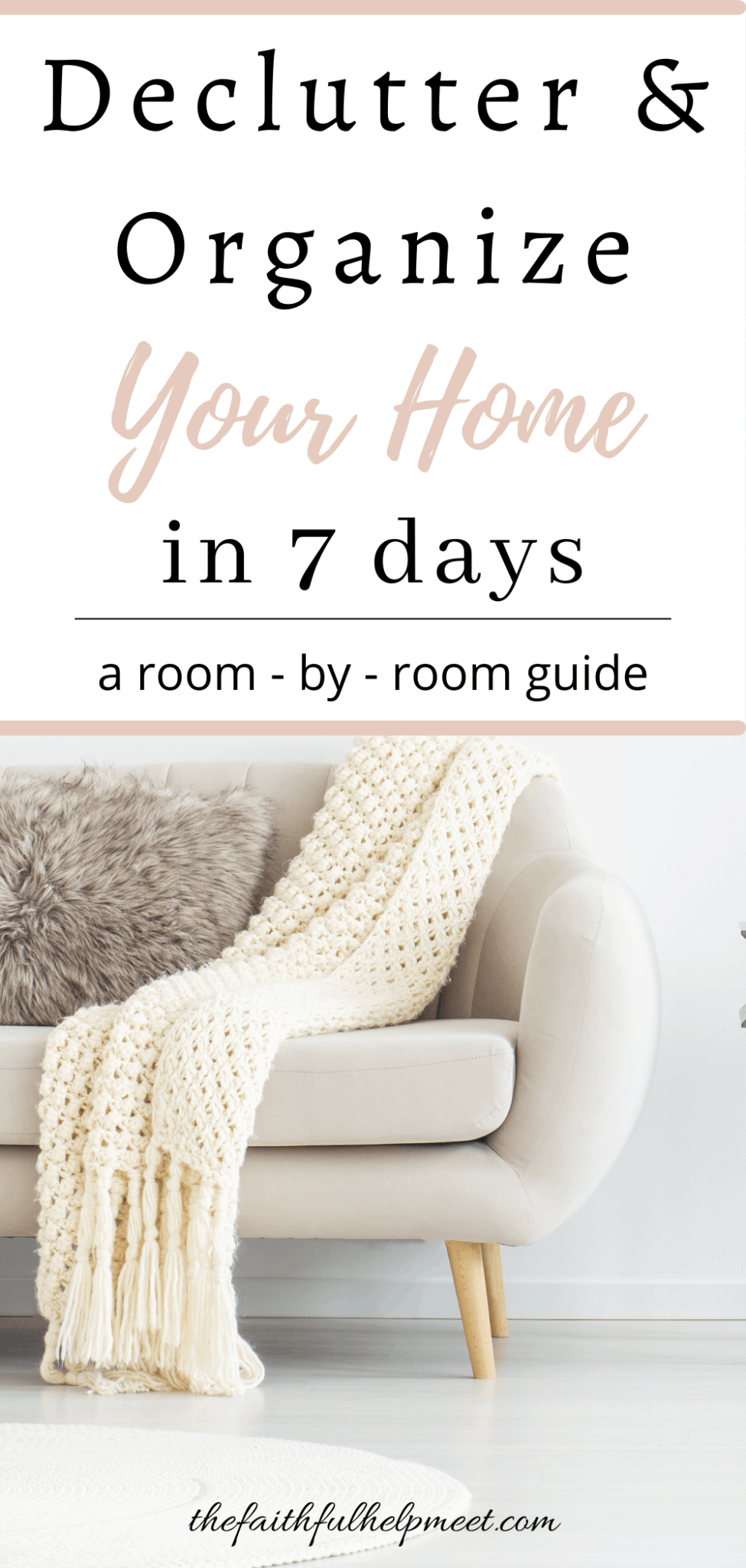 declutter and organize in 7 days